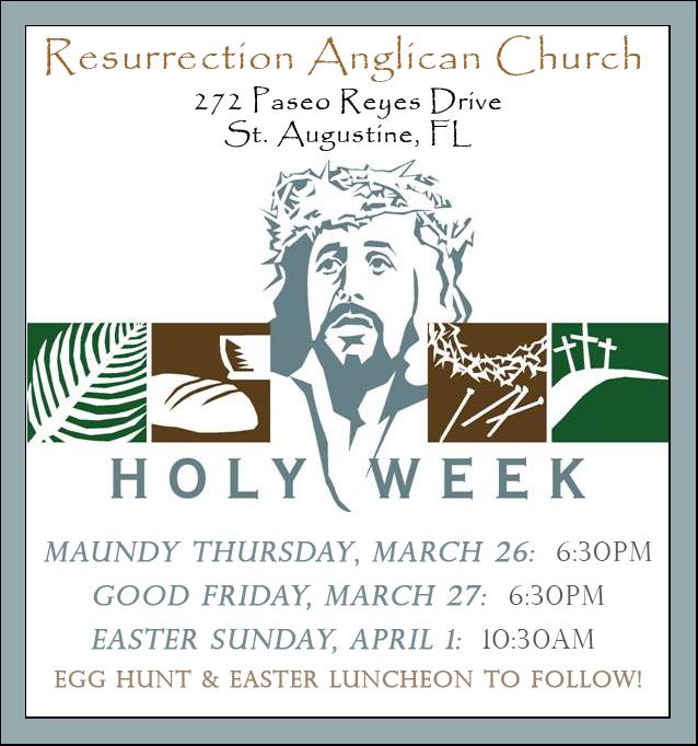Holy Week Schedule 2018 fb